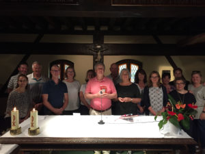 Celebrating the Eucharist in the Chapel of Conversion, Loyola