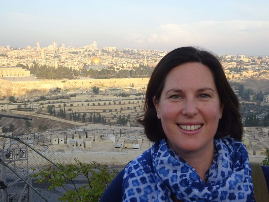Ness at sunrise on the Mount of Olives