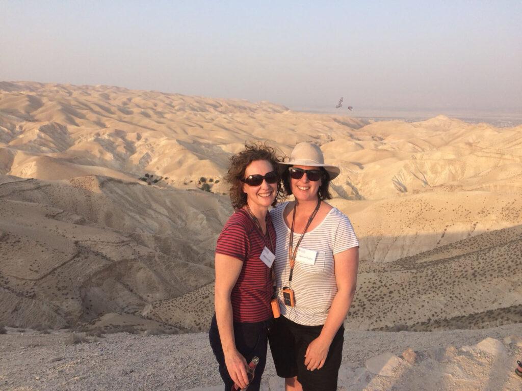 Rebecca and Vanessa - Wadi Qelt