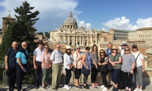 The view from the Jesuit Curia in Rome