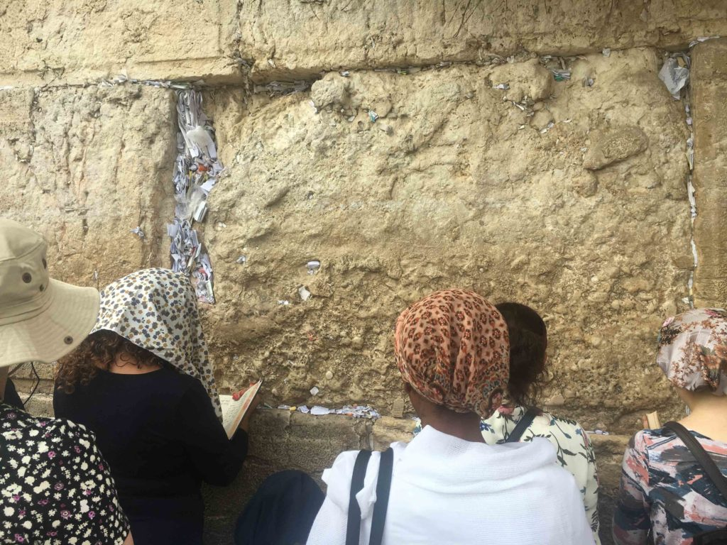 Up close at the Western Wall